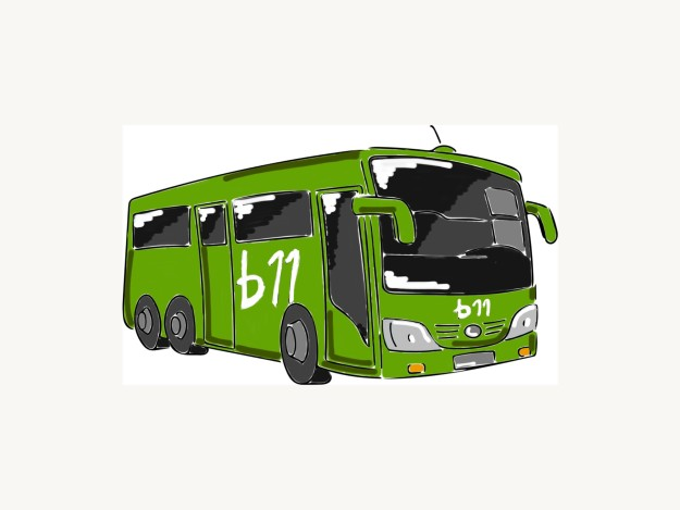 b11 Bus grün Logo weiß