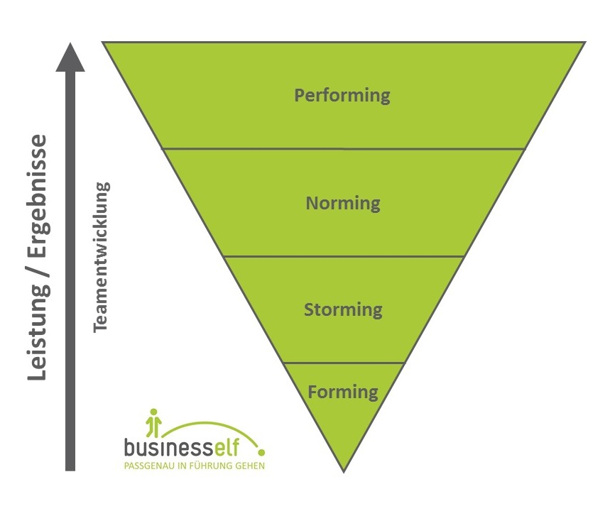 Teamentwicklung - vier Phasen der business elf - Managementberatung