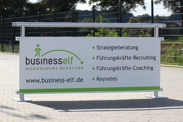 Torwand on Tour - Bandenwerbung business elf - Managementberatung