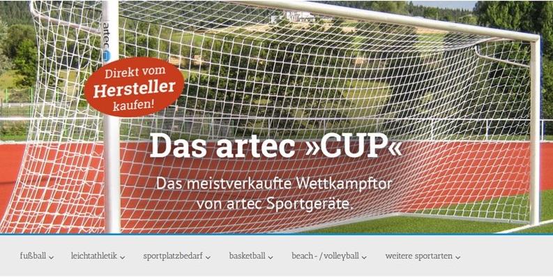Neuer Internetauftritt artec Sportgeräte