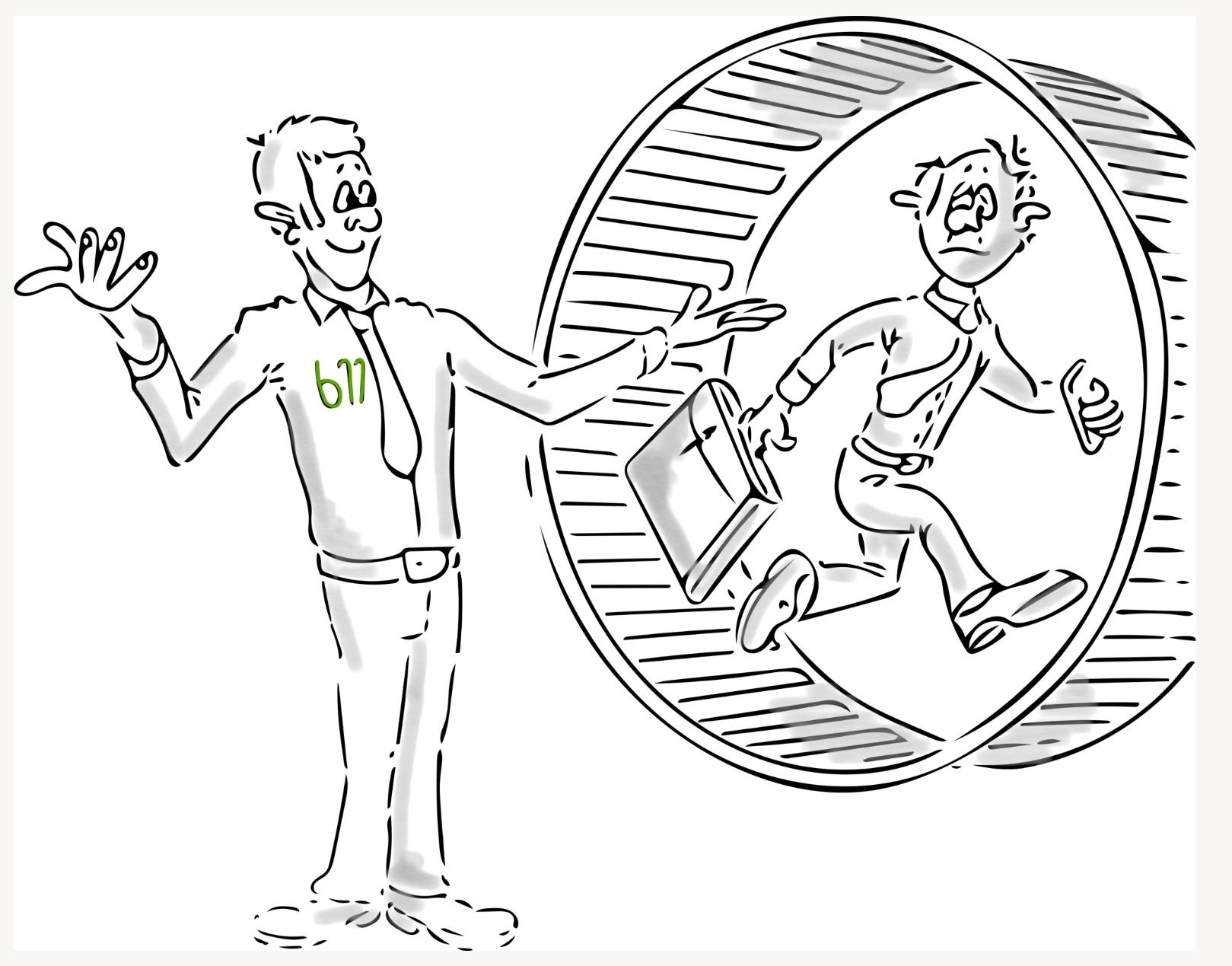 Leadership im Unternehmen - Raus aus dem Hamsterrad