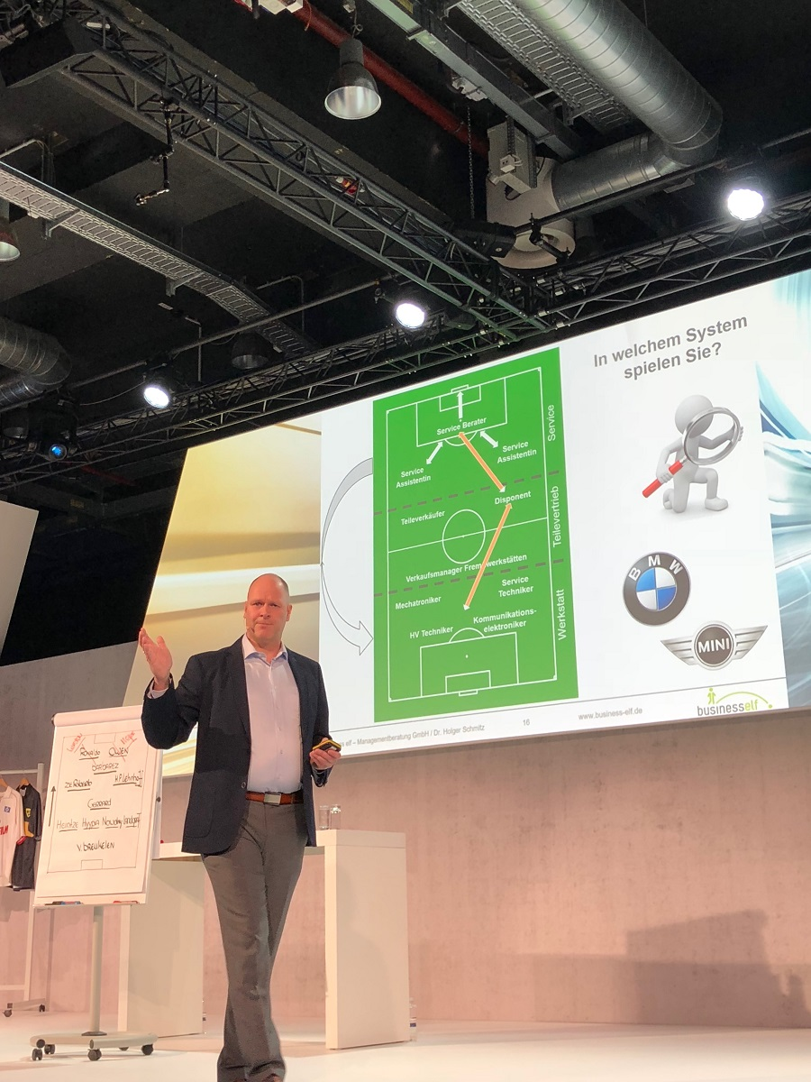 Aftersaleskonferenz 2018 BMW - keynote speaker Dr. Holger Schmitz
