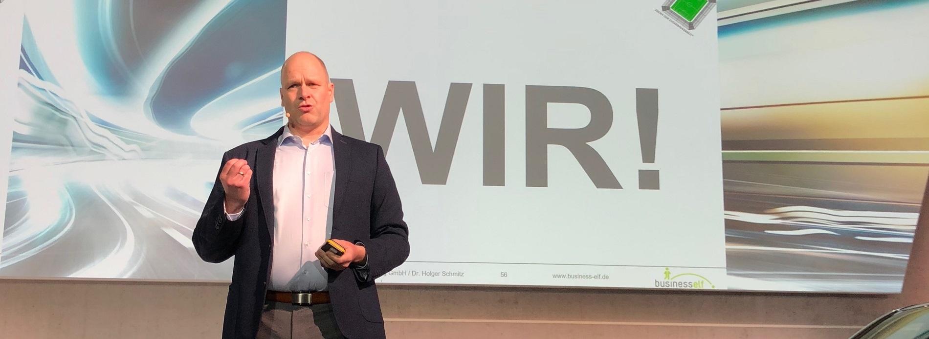 Leadership Experte Dr. Holger Schmitz beim Managertag WTLC