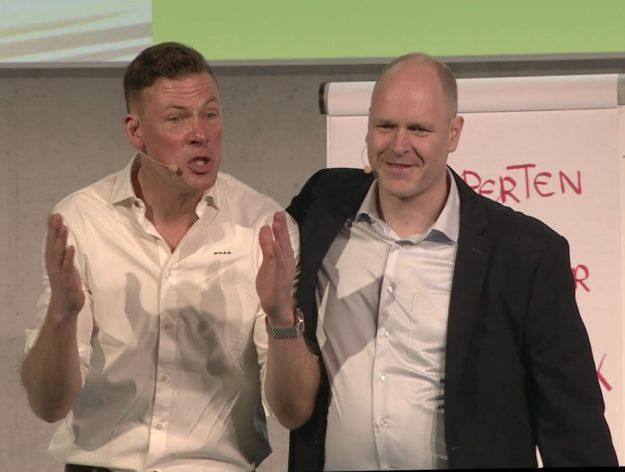 Fußballredner Erik Meijer und Dr. Holger Schmitz