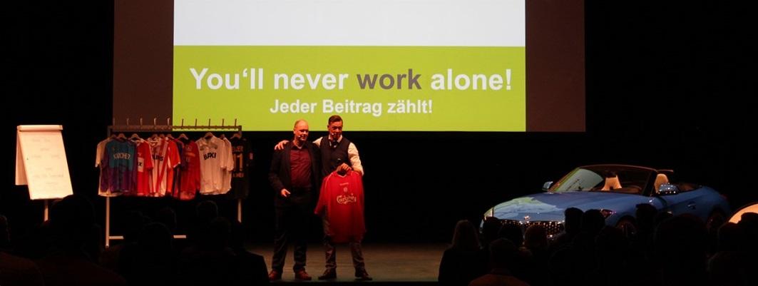 Buchungsanfrage für Keynote You'll never work alone