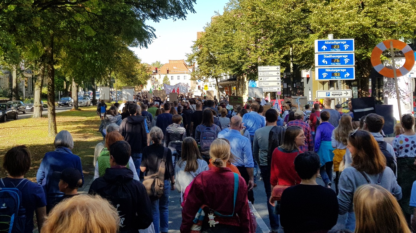 Fridays for Future auf Osnabrücker Straßen