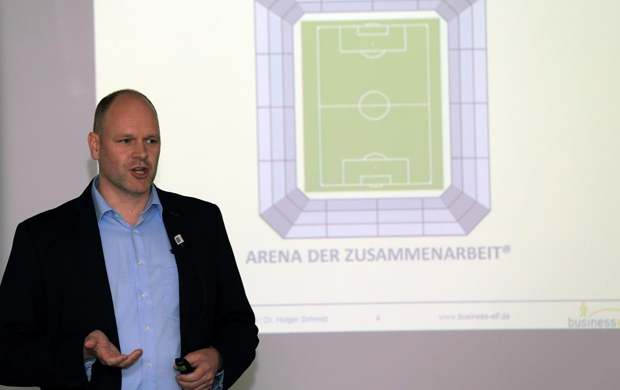Dr. Holger Schmitz in der ARENA DER ZUSAMMENARBEIT