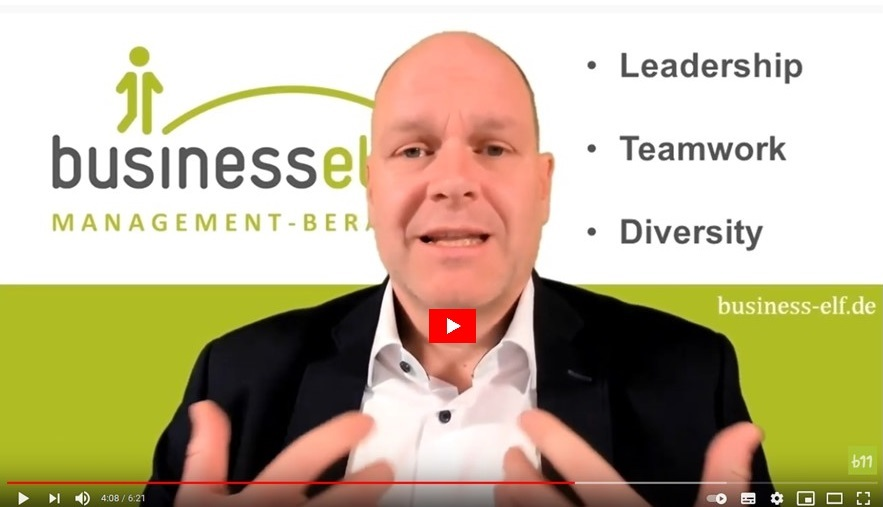 Leadership Teamwork und Diversity im Kurzvideo mit Dr. Schmitz